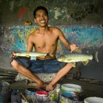 Balinese Fish Painter by Dave Hull, f5.6 Digital, Score: 10