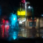 Rainy Night on Colfax by Theresa Corrada, f8 Digital, Score: 10