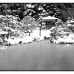 Japanese Garden in the Snow by Nancy Myer, f16 Digital, Score: 9