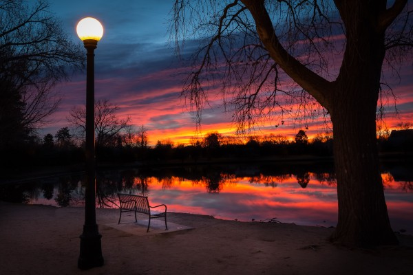 My Favorite Sunrise Bench by Brian Donovan, f16 Digital, Score: 10