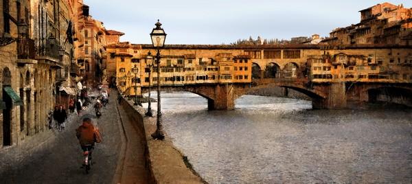 Antique Over the Arno by Joe Bonita, f16 Color, Score: 9