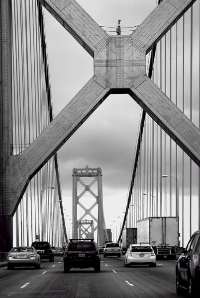 Suspension Bridge by Oz Pfenninger, f16 Monochrome, Score: 10