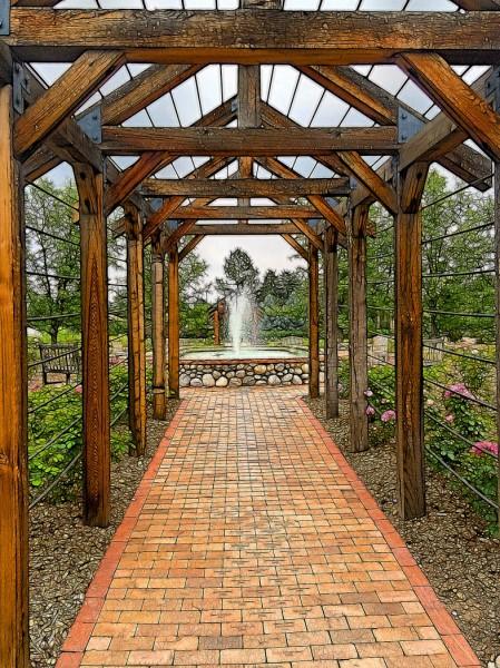 Rose Garden Arcade by Nancy Myer, f16 Digital, Score: 9