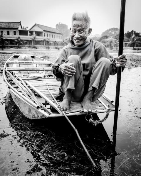 The Boatman by Ron Cooper, f16 Monochrome, Score: 10