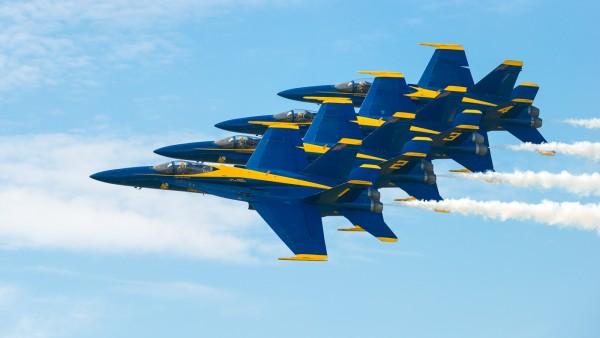 Blue Angels over Oahu by Todd Christensen, f11 Digital, Score: 10