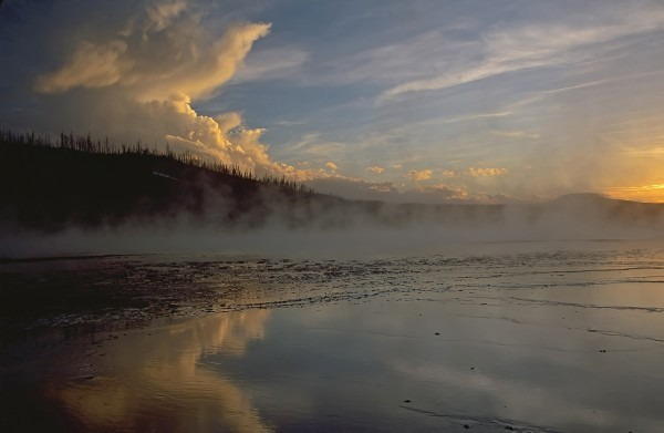 Yellowstone Sunset by Mary Paetow, f16 Digital, Score: 10