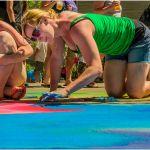Three Chalk Artists by Leander Urmy, 3rd f11 Digital