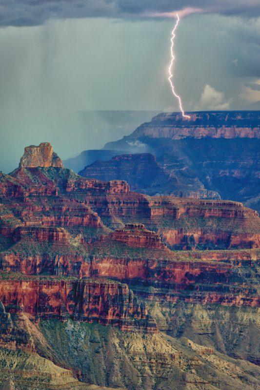 North Rim Storm by Butch Mazzuca, f16 Digital, Score: 9