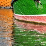 Colorful Boats Reflected by Dan Greenberg, f16 Digital, Score: 9
