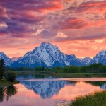 Sunset at OxBow Bend by Russ Burden, 1st f16 Digital