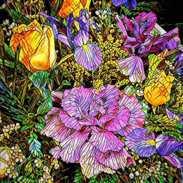 Fractured Flowers by Nancy Myer, f16 Digital, Score: 10