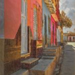 Dorways to Colorful Row Houses by Dan Greenberg, f16 Color, Score: 10