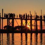 Sunset on U Bein Bridge by Ally Green, f8 Digital, Score: 10
