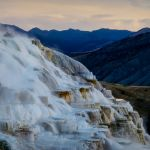 Sunrise at Mammoth Hot Springs by Dave Hull, f8 Digital, Score: 10