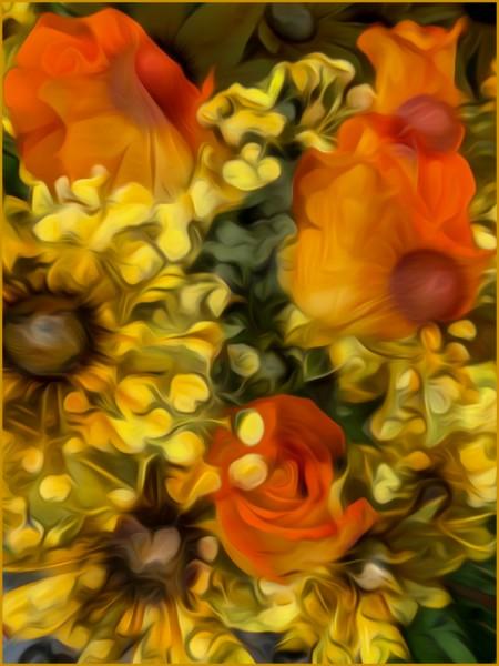 Aqueous Dreamflowers by Nancy Myer, f16 Digital, Score: 10