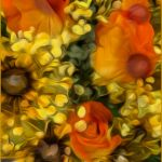 Aqueous Dreamflowers by Nancy Myer, f16 Digital, Score: 10