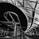 Union Station After Rain by Danny Lam, f16 Monochrome, Score: 10