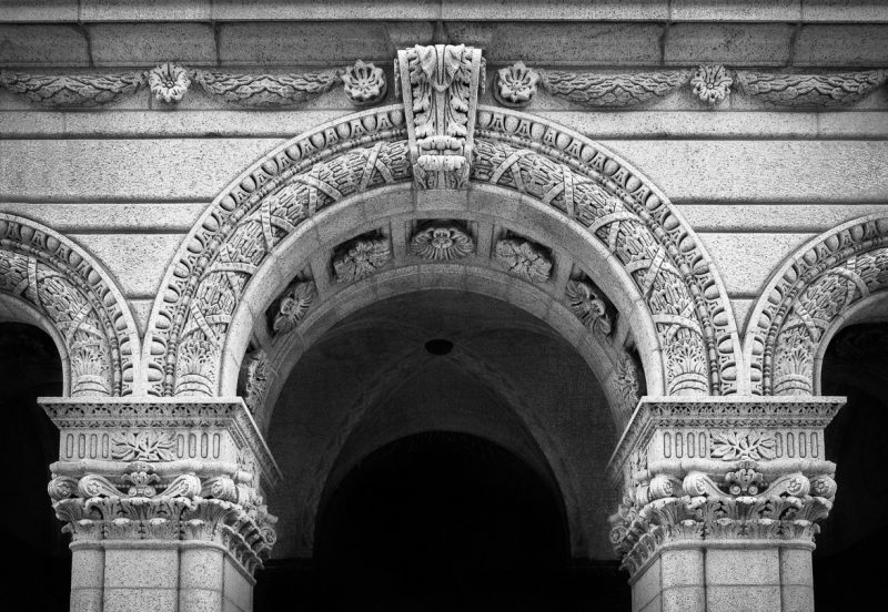 Equitable Building Detail by Dave Hull, f11 Monochrome, Score: 10