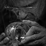 Glass Artist by Dick York, f16 B&W Digital, Score: 10