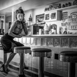 Malt Shop Waitress After Hours by Butch Mazzuca, f16 B&W Digital, Score: 10
