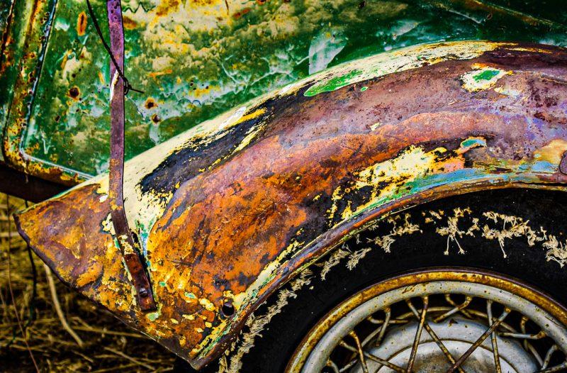 Fading Forgotten Ford Fender by Larry Hartlaub, f11 Digital, Score: 10
