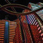 Phoenix at Night Viewed While Using Hallucinogens by Dan Greenberg, f16 Digital, Score: 10