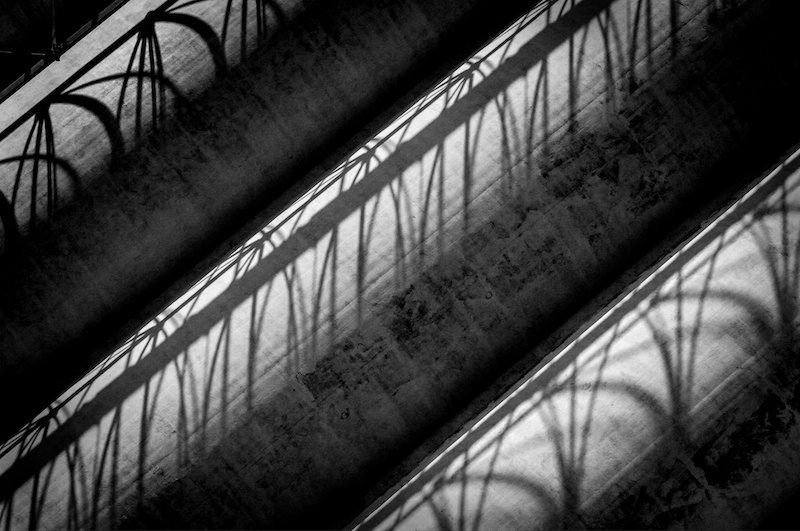 Loops & Shadows by Gary Witt, f16 Monochrome, Score: 9