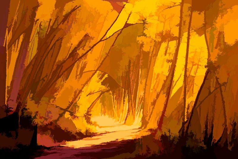 Autumn Lane by Clint Dunham, f11 Digital, Score: 9