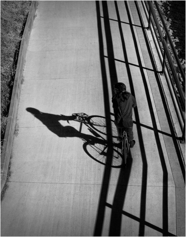 Bike Path Shadow by Dave Hull, f11 B&W Digital, Score: 9