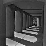 A shadowy walkway in Arizona by Bill Dickson, f11 B&W Digital, Score: 9