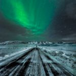 Northern Lights on a Lonely Road by Dan Greenberg, 1st f16 Digital