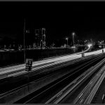 Freeway at Night-Denver by Nancy Myer, f16 B&W Digital, Score: 10