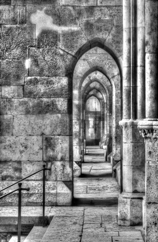 Archway at St Peters Cathedral Regensburg Germany by Ernie Kuemmerer, f8 Digital, Score: 9