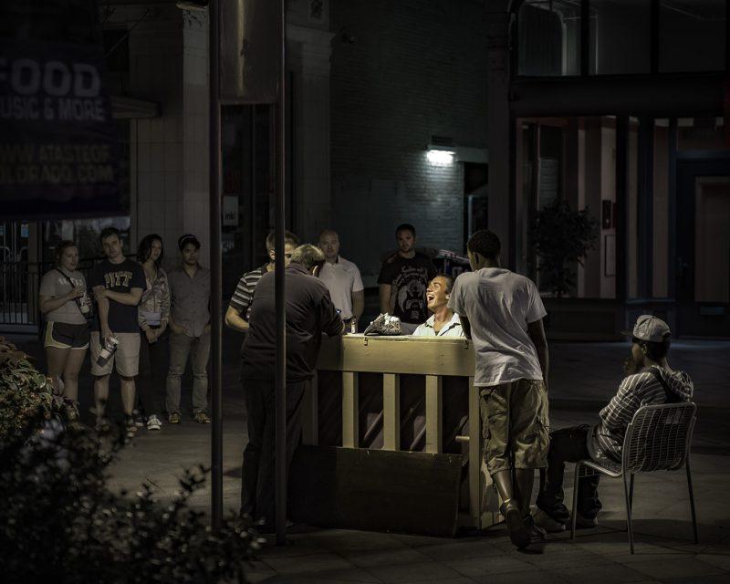 streetlight crooner by Travis Broxton, f16 Digital, Score: 10