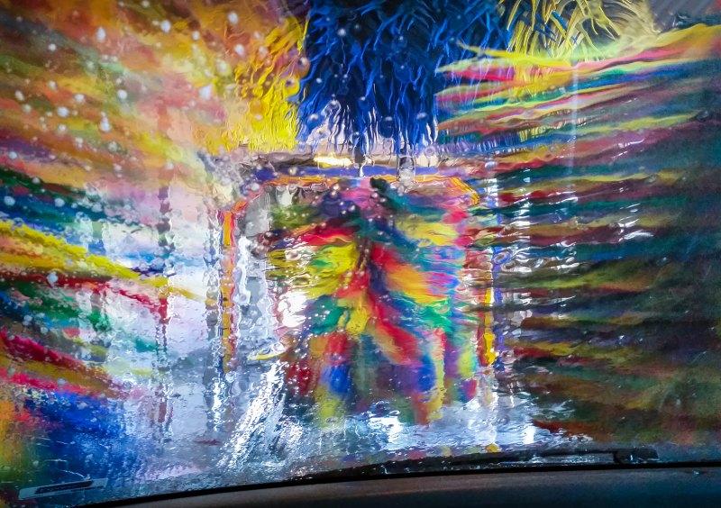 Colorful Car Wash by Leander Urmy, f16 Color Digital, Score: 10