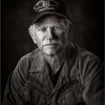 His Hat Tells His Story by Cliff Lawson, f16 B&W Digital, Score: 10