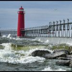 Gale Force Winds on Lake Michigan by Gwen Paton, f11 Color Digital, Score: 9