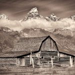 Mormon Barn by Jim Doolittle, 1st f11 Monochrome
