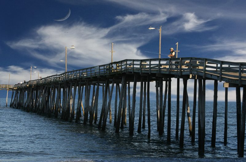 Fishing Pier at Rodanthe by Gwen Paton, f11 Digital, Score: 9