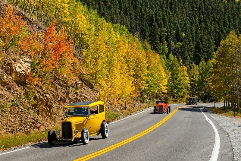 Hot Rodding Through Fall Color by Dan Greenberg, f16 Color Digital, Score: 9