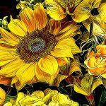 Tumult of Yellows by Nancy Myer, f16 Digital, Score: 9