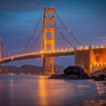 Golden Light Bridge by Brian Donovan, f16 Digital, Score: 9