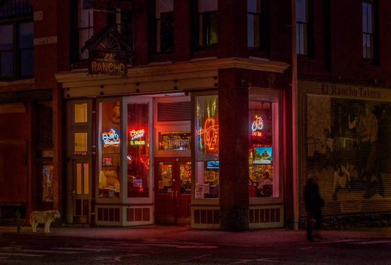 Night-time at the El Rancho by Dave Hull, f11 Color Digital, Score: 9