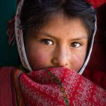 Quechua Girl in Red by Ron Cooper, f16 Color Digital, Score: 9