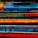 Rows of Row Boats by Dick York, f16 Digital, Score: 9
