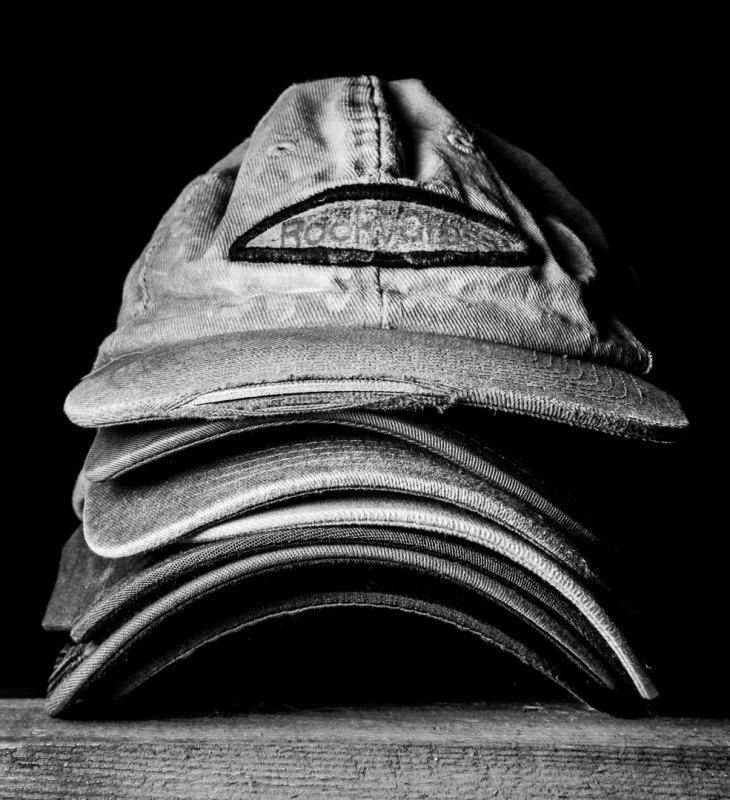 Hat Stack by Clifford Stockdill, F11 B&W Digital, Score: 10