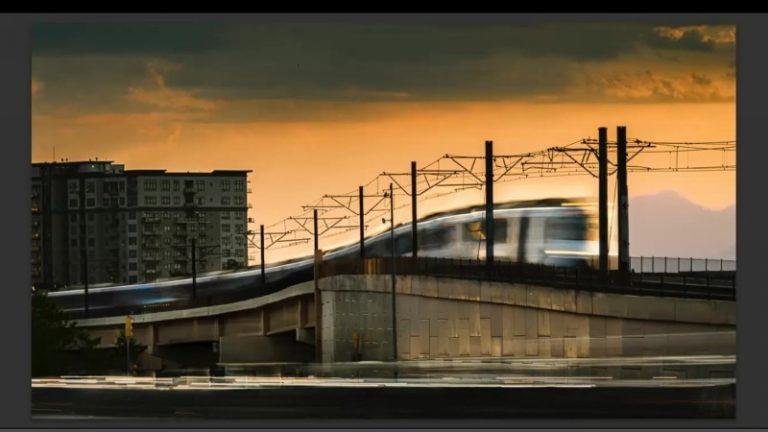 commuter train in denver